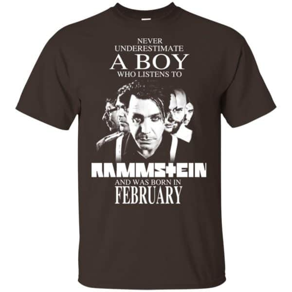 A Boy Who Listens To Rammstein And Was Born In February T-Shirts, Hoodie, Tank