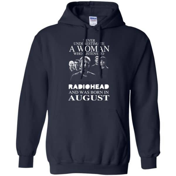 A Woman Who Listens To Radiohead And Was Born In August T-Shirts, Hoodie, Tank Apparel