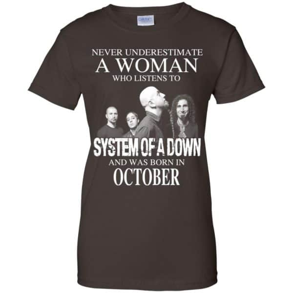 A Woman Who Listens To System Of A Down And Was Born In October T-Shirts, Hoodie, Tank Apparel 12