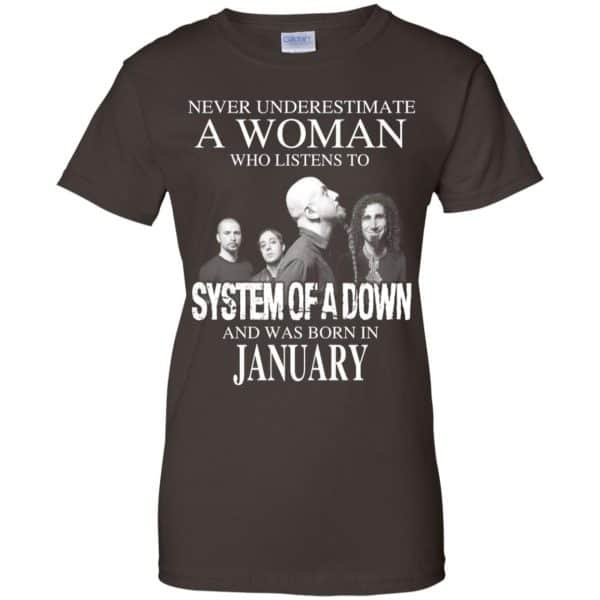 A Woman Who Listens To System Of A Down And Was Born In January T-Shirts, Hoodie, Tank Apparel 12