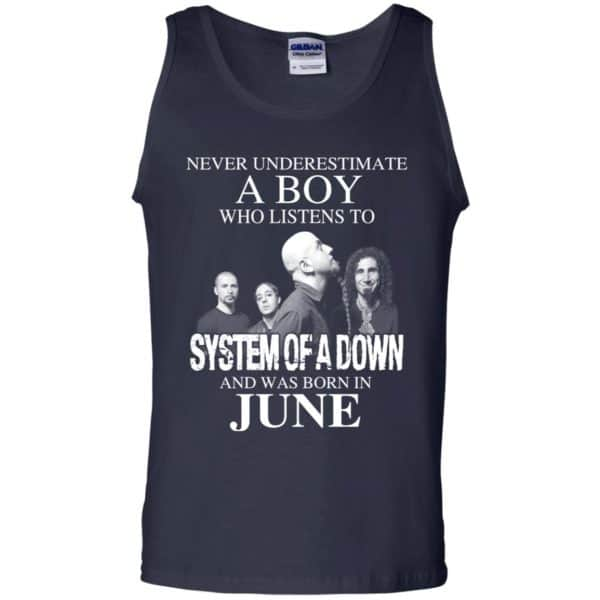 A Boy Who Listens To System Of A Down And Was Born In June T-Shirts, Hoodie, Tank