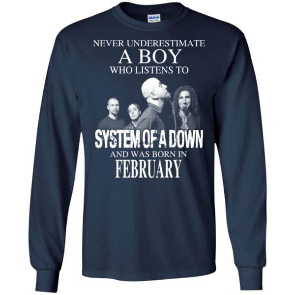 A Boy Who Listens To System Of A Down And Was Born In February T-Shirts, Hoodie, Tank Apparel