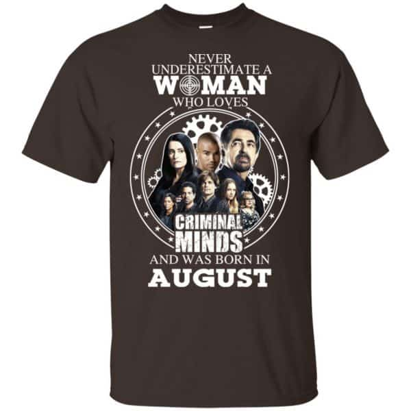 Never Underestimate A Woman Who Loves Criminal Minds And Was Born In August T-Shirts, Hoodie, Tank Apparel 4
