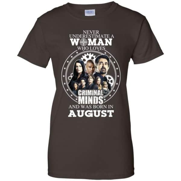 Never Underestimate A Woman Who Loves Criminal Minds And Was Born In August T-Shirts, Hoodie, Tank Apparel 12