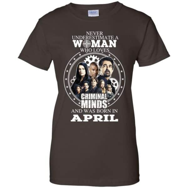 Never Underestimate A Woman Who Loves Criminal Minds And Was Born In April T-Shirts, Hoodie, Tank Apparel 12