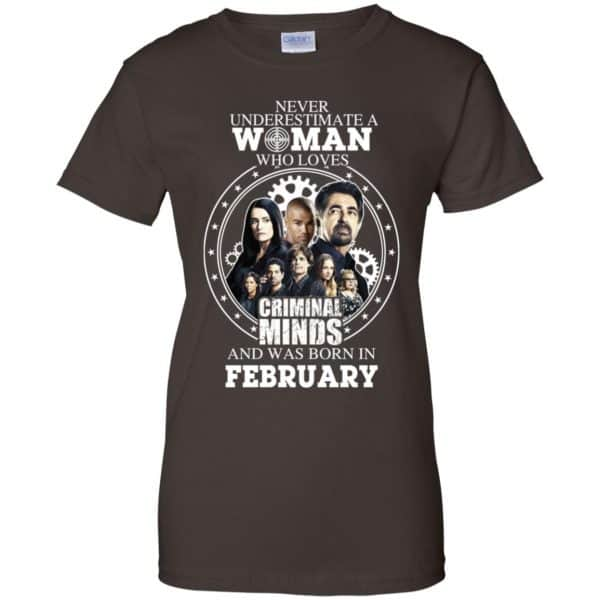 Never Underestimate A Woman Who Loves Criminal Minds And Was Born In February T-Shirts, Hoodie, Tank Apparel 12