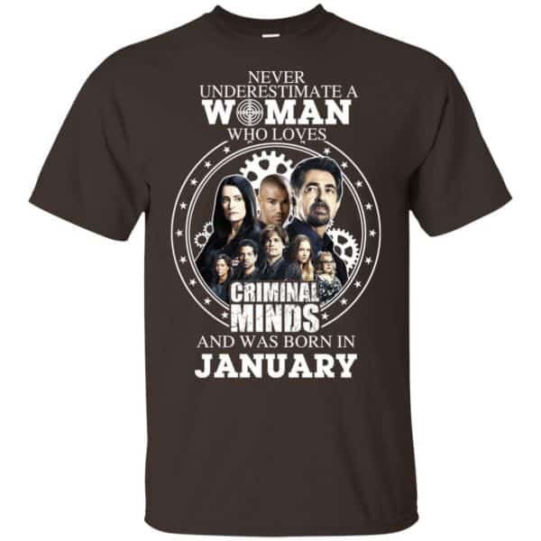 Never Underestimate A Woman Who Loves Criminal Minds And Was Born In January T-Shirts, Hoodie, Tank Apparel 4