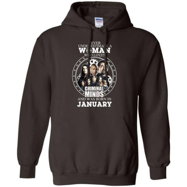 Never Underestimate A Woman Who Loves Criminal Minds And Was Born In January T-Shirts, Hoodie, Tank Apparel 9