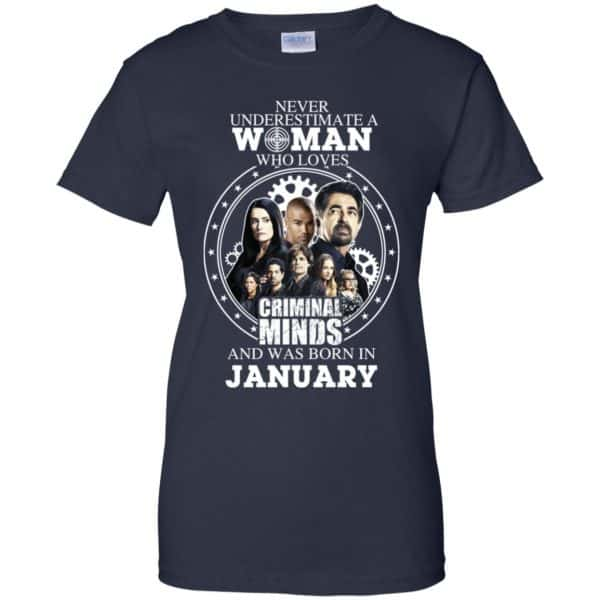 Never Underestimate A Woman Who Loves Criminal Minds And Was Born In January T-Shirts, Hoodie, Tank Apparel 13