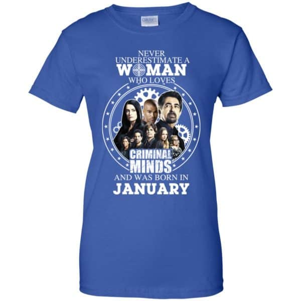 Never Underestimate A Woman Who Loves Criminal Minds And Was Born In January T-Shirts, Hoodie, Tank Apparel 14