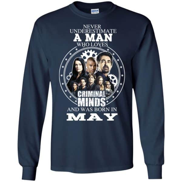 A Man Who Loves Criminal Minds And Was Born In May T-Shirts, Hoodie, Tank