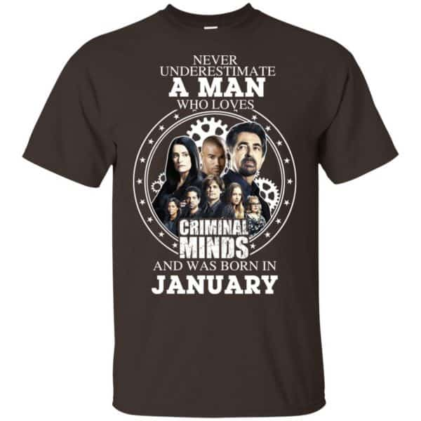 A Man Who Loves Criminal Minds And Was Born In January T-Shirts, Hoodie, Tank Apparel