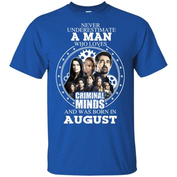 A Man Who Loves Criminal Minds And Was Born In August T-Shirts, Hoodie, Tank Apparel