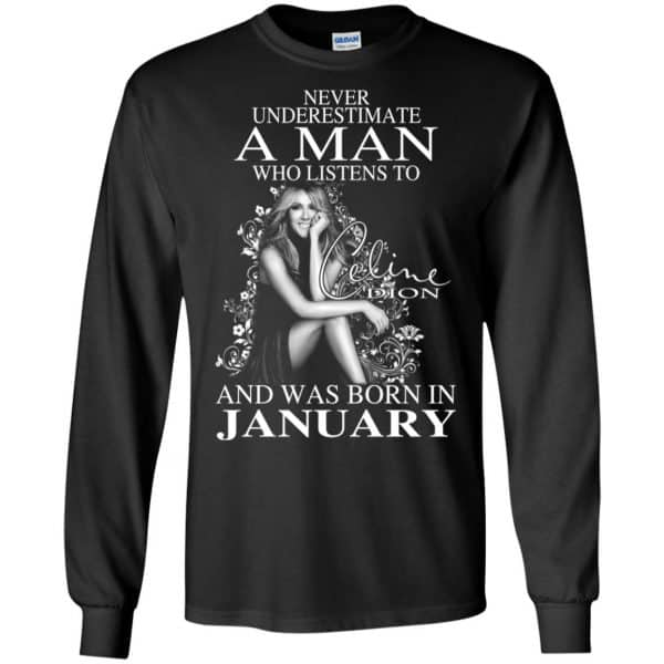 A Man Who Listens To Céline Dion And Was Born In January T-Shirts, Hoodie, Tank Animals Dog Cat 7