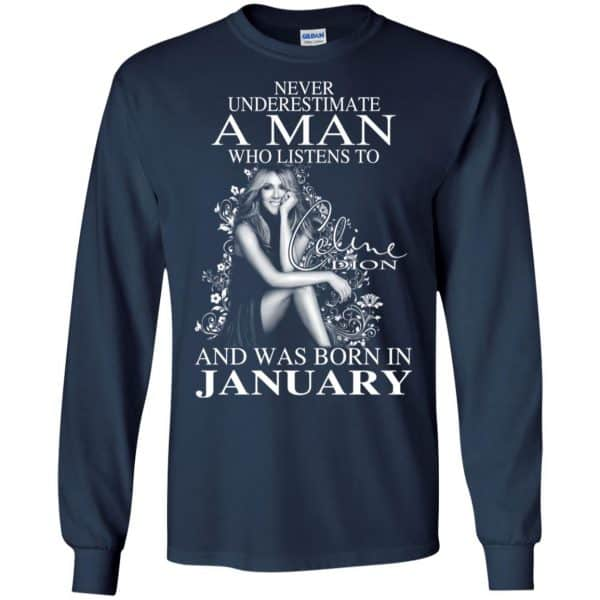 A Man Who Listens To Céline Dion And Was Born In January T-Shirts, Hoodie, Tank Animals Dog Cat 8