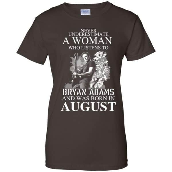 Never Underestimate A Woman Who Listens To Bryan Adams And Was Born In August T-Shirts, Hoodie, Tank Animals Dog Cat 12
