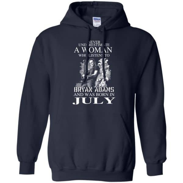 Never Underestimate A Woman Who Listens To Bryan Adams And Was Born In July T-Shirts, Hoodie, Tank Animals Dog Cat 8