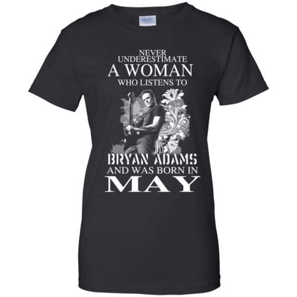 Never Underestimate A Woman Who Listens To Bryan Adams And Was Born In May T-Shirts, Hoodie, Tank Animals Dog Cat 11