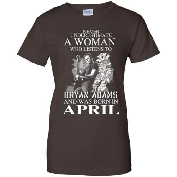 Never Underestimate A Woman Who Listens To Bryan Adams And Was Born In April T-Shirts, Hoodie, Tank Animals Dog Cat 12