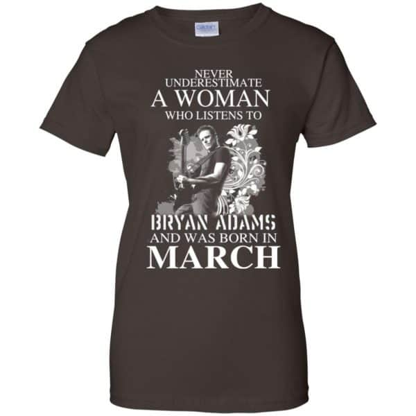 Never Underestimate A Woman Who Listens To Bryan Adams And Was Born In March T-Shirts, Hoodie, Tank Animals Dog Cat 12