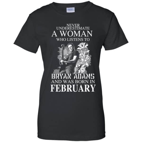 Never Underestimate A Woman Who Listens To Bryan Adams And Was Born In February T-Shirts, Hoodie, Tank Animals Dog Cat 11