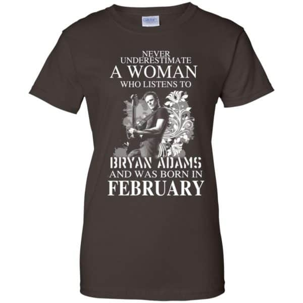 Never Underestimate A Woman Who Listens To Bryan Adams And Was Born In February T-Shirts, Hoodie, Tank Animals Dog Cat 12