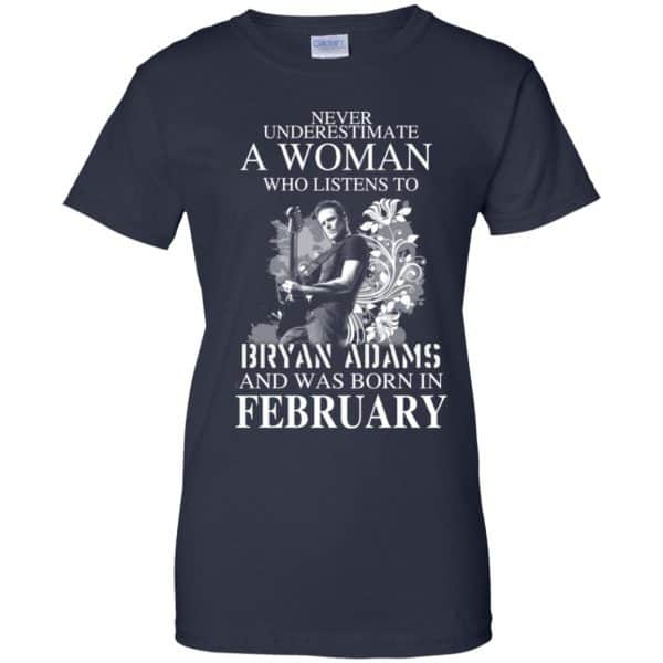 Never Underestimate A Woman Who Listens To Bryan Adams And Was Born In February T-Shirts, Hoodie, Tank Animals Dog Cat 13