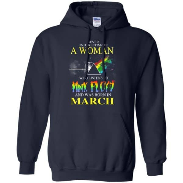 A Woman Who Listens To Pink Floyd And Was Born In March T-Shirts, Hoodie, Tank Animals Dog Cat 8
