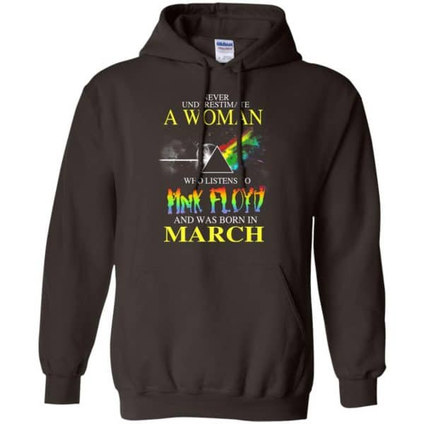 A Woman Who Listens To Pink Floyd And Was Born In March T-Shirts, Hoodie, Tank Animals Dog Cat 9