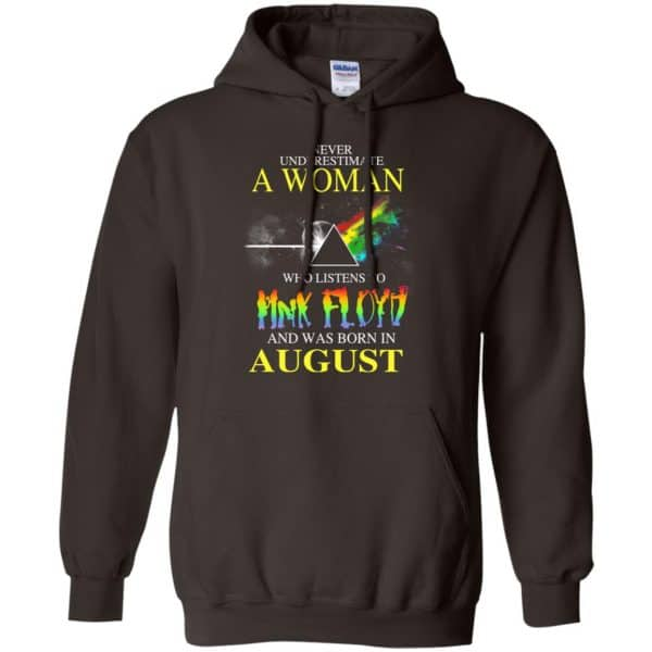 A Woman Who Listens To Pink Floyd And Was Born In August T-Shirts, Hoodie, Tank Animals Dog Cat 9