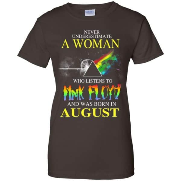 A Woman Who Listens To Pink Floyd And Was Born In August T-Shirts, Hoodie, Tank Animals Dog Cat 12