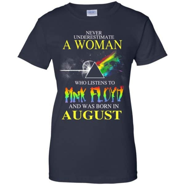 A Woman Who Listens To Pink Floyd And Was Born In August T-Shirts, Hoodie, Tank Animals Dog Cat 13