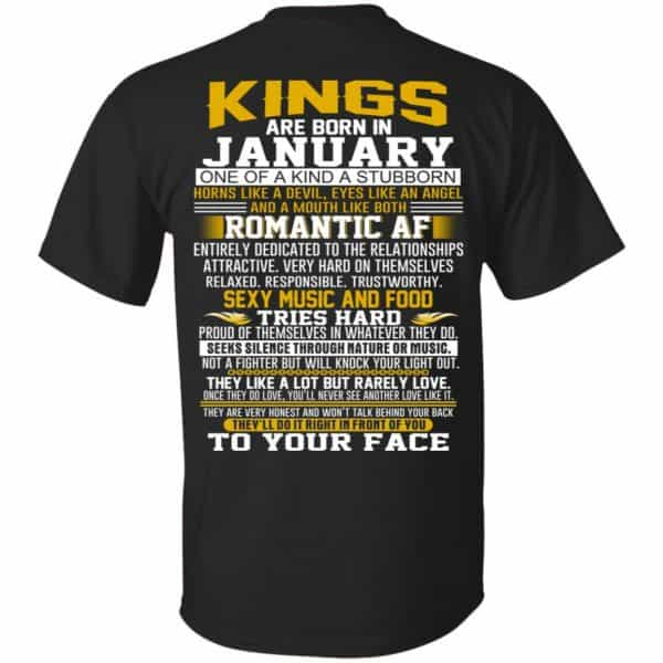Kings Are Born In January One Of A Kind A Stubborn T-Shirts, Hoodie, Tank Apparel 3