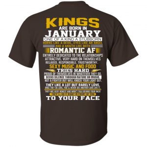Kings Are Born In January One Of A Kind A Stubborn T-Shirts, Hoodie, Tank Apparel 2