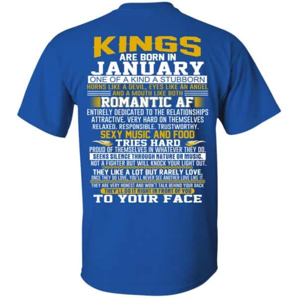 Kings Are Born In January One Of A Kind A Stubborn T-Shirts, Hoodie, Tank Apparel 5