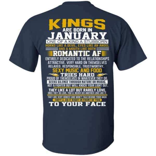 Kings Are Born In January One Of A Kind A Stubborn T-Shirts, Hoodie, Tank Apparel 6