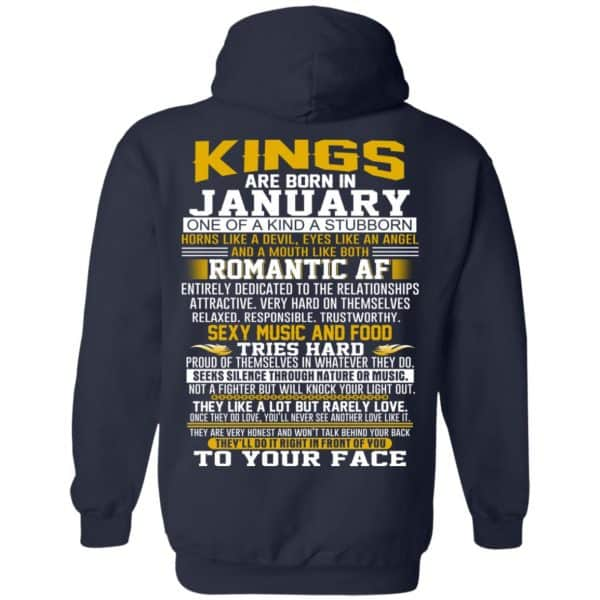Kings Are Born In January One Of A Kind A Stubborn T-Shirts, Hoodie, Tank Apparel 8