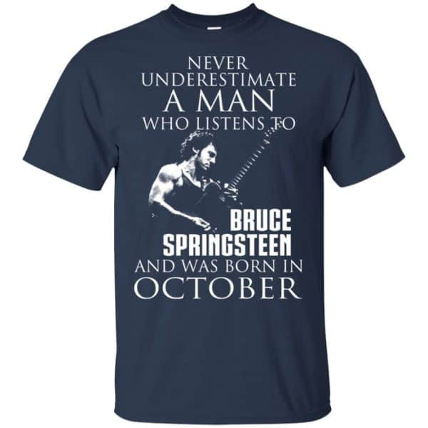 A Man Who Listens To Bruce Springsteen And Was Born In October T-Shirts, Hoodie, Tank Animals Dog Cat 6