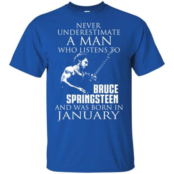 A Man Who Listens To Bruce Springsteen And Was Born In January T-Shirts, Hoodie, Tank Animals Dog Cat 5