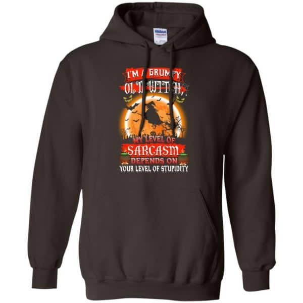 I'm A Grumpy Old Witch My Level Of Sarcasm Depends On Your Level Of Stupidity Halloween T-Shirts, Hoodie, Tank Apparel