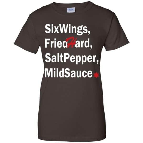 Six Wings, Fried Hard, Salt Pepper Mild Sauce T-Shirts, Hoodie, Tank Apparel 12