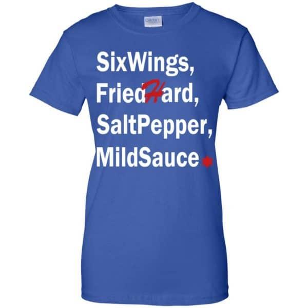 Six Wings, Fried Hard, Salt Pepper Mild Sauce T-Shirts, Hoodie, Tank Apparel 14