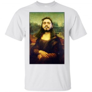 Post Malone Mona Lisa Smoking T-Shirts, Hoodie, Tank Funny Quotes