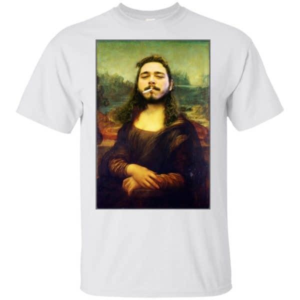 Post Malone Mona Lisa Smoking T-Shirts, Hoodie, Tank Funny Quotes 4