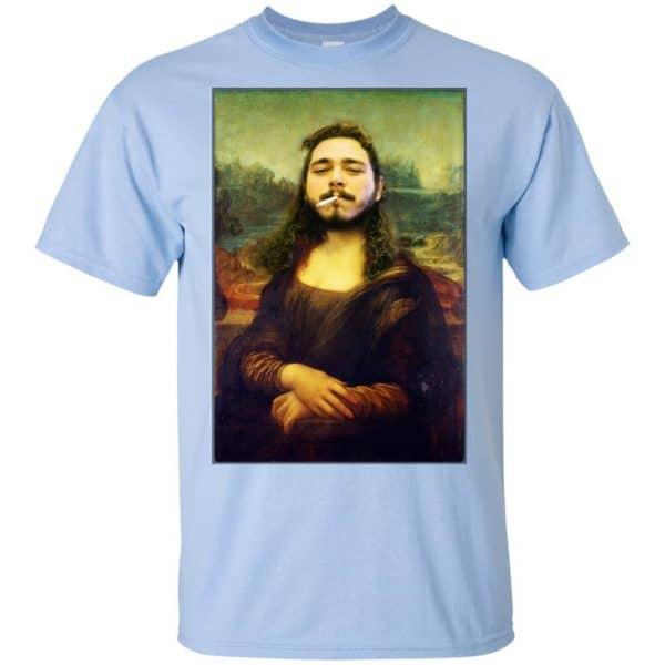 Post Malone Mona Lisa Smoking T-Shirts, Hoodie, Tank Funny Quotes 5