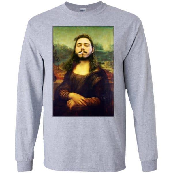 Post Malone Mona Lisa Smoking T-Shirts, Hoodie, Tank Funny Quotes 6