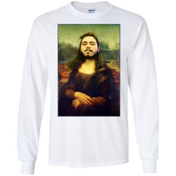 Post Malone Mona Lisa Smoking T-Shirts, Hoodie, Tank Funny Quotes 7
