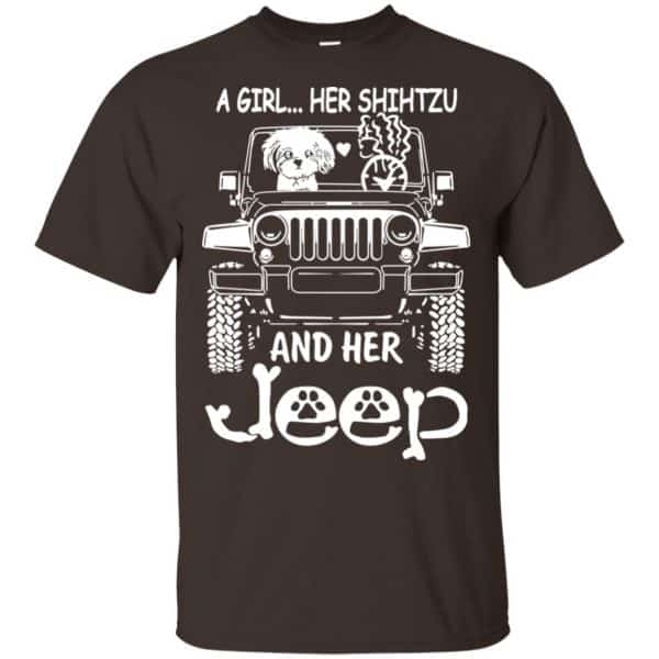 A Girl Her Shih Tzu And Her Jeep T-Shirts, Hoodie, Tank Apparel