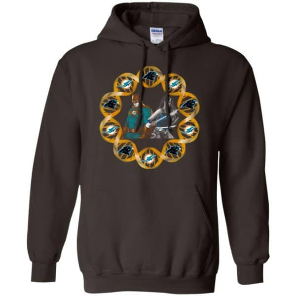 Miami Dolphins And Carolina Panthers In My DNA Batman Superwoman T-Shirts, Hoodie, Tank Apparel