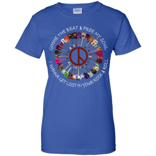 Hippie Guitar Rock Gimme The Beat And Free My Soul I Wanna Get Lost In Your Rock And Roll T-Shirts, Hoodie, Tank Apparel